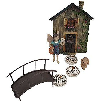Amazon.com : Fairy Gardening Set complete with Fairy Garden Door Stepping Stones