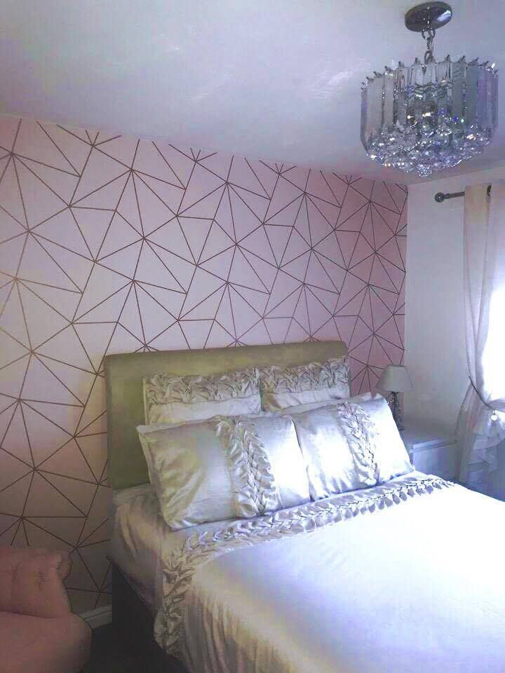 Best Zara Shimmer Metallic Wallpaper Soft Pink Rose Gold In 400 x 300