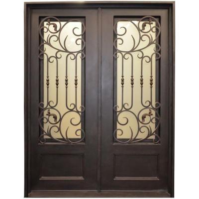 Iron Doors Trento 126BP 34 Lite Painted Metal Dark Bronze Wrought