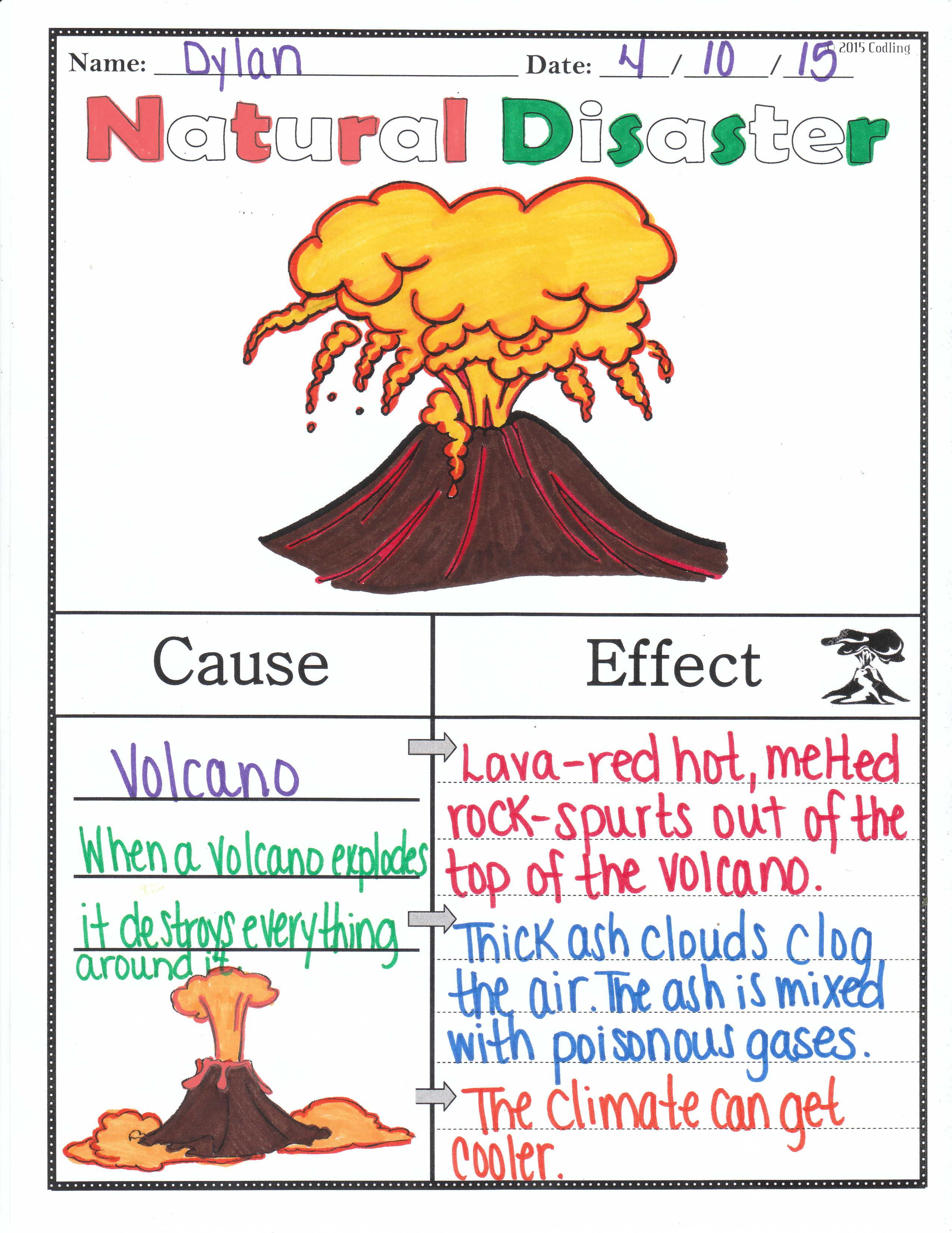 Natural Disasters Worksheets For 2nd Grade   Printable Worksheets and  Activities for Teachers [ 3300 x 2550 Pixel ]