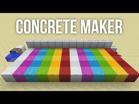 How to build an automatic concrete maker in minecraft youtube how to build an automatic concrete maker in minecraft youtube malvernweather Images