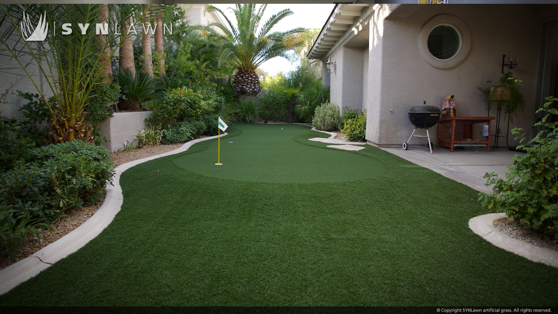 SYNLawn custom putting greens can be created in any area ...