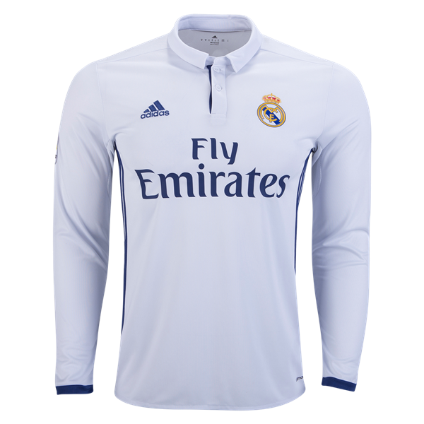 Real Madrid 16 17 Ls Home Soccer Jersey Get Match Ready For The 2016 17 Uefa Champions League Sports Jersey Design Real Madrid Soccer Jersey