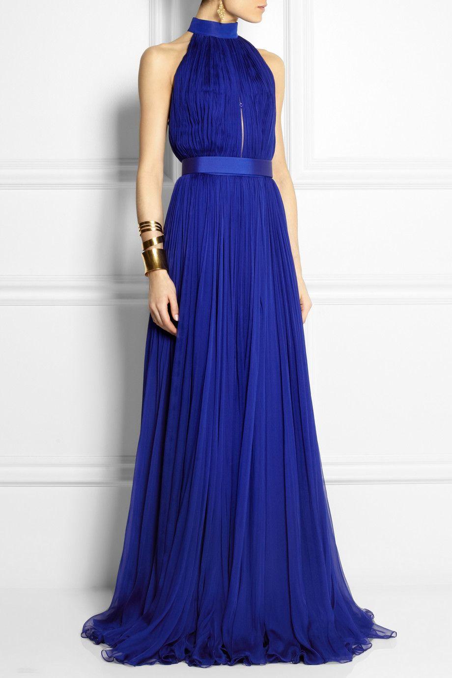 Alexander McQueen | Plissé silk-chiffon gown | vestidos | Pinterest ...