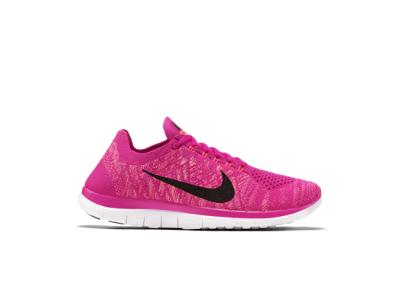 Womens Nike Free 4.0 Flyknit Pink Foil/Sunset Glow/Fuchsia Flash/Black Running Shoe