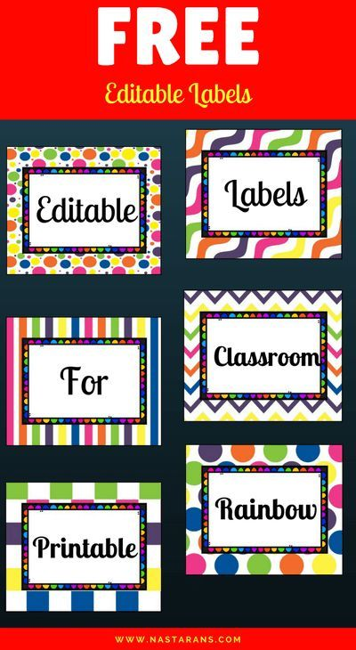 photograph relating to Free Printable Classroom Signs and Labels identified as Absolutely free Printable and Editable Labels For Clroom Self