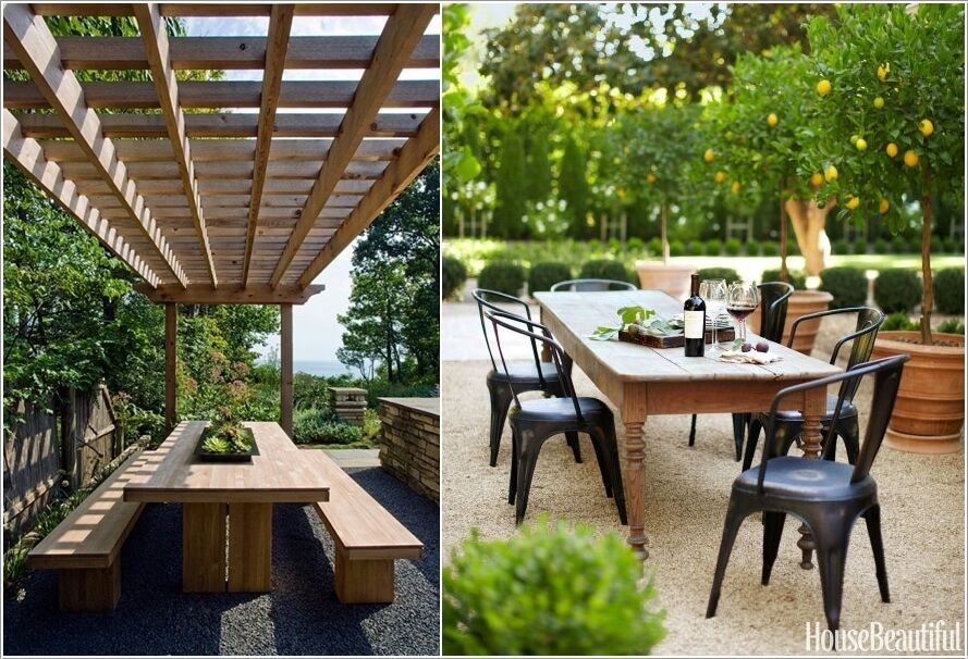 10 Cool Outdoor Dining Room Floor Ideas 3