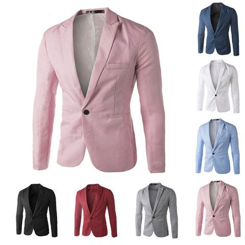 Men's Casual Suit Jacket/Many Color Options | Men's Blazers, Suits ...