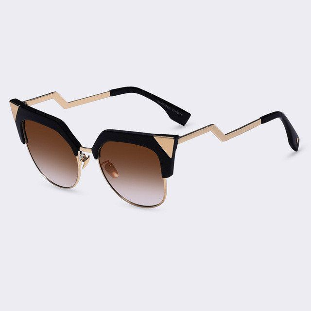 132a7ae6555 Zig Zag Cat Eye Frame  Sunglasses