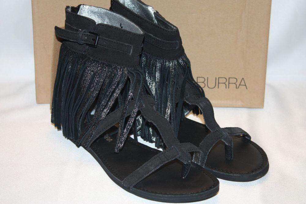 23f1ab263e9 NEW! NIB! KOOLABURRA Black Suede Fringe VENUS II Gladiator Boho ...