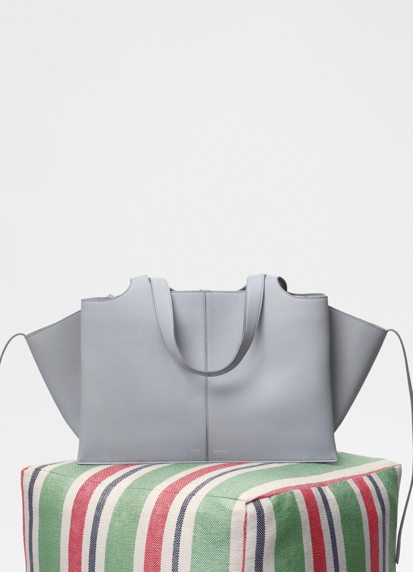 65f877548bcd Medium Tri-Fold bag in supple natural calfskin - Handbags   CÉLINE ...