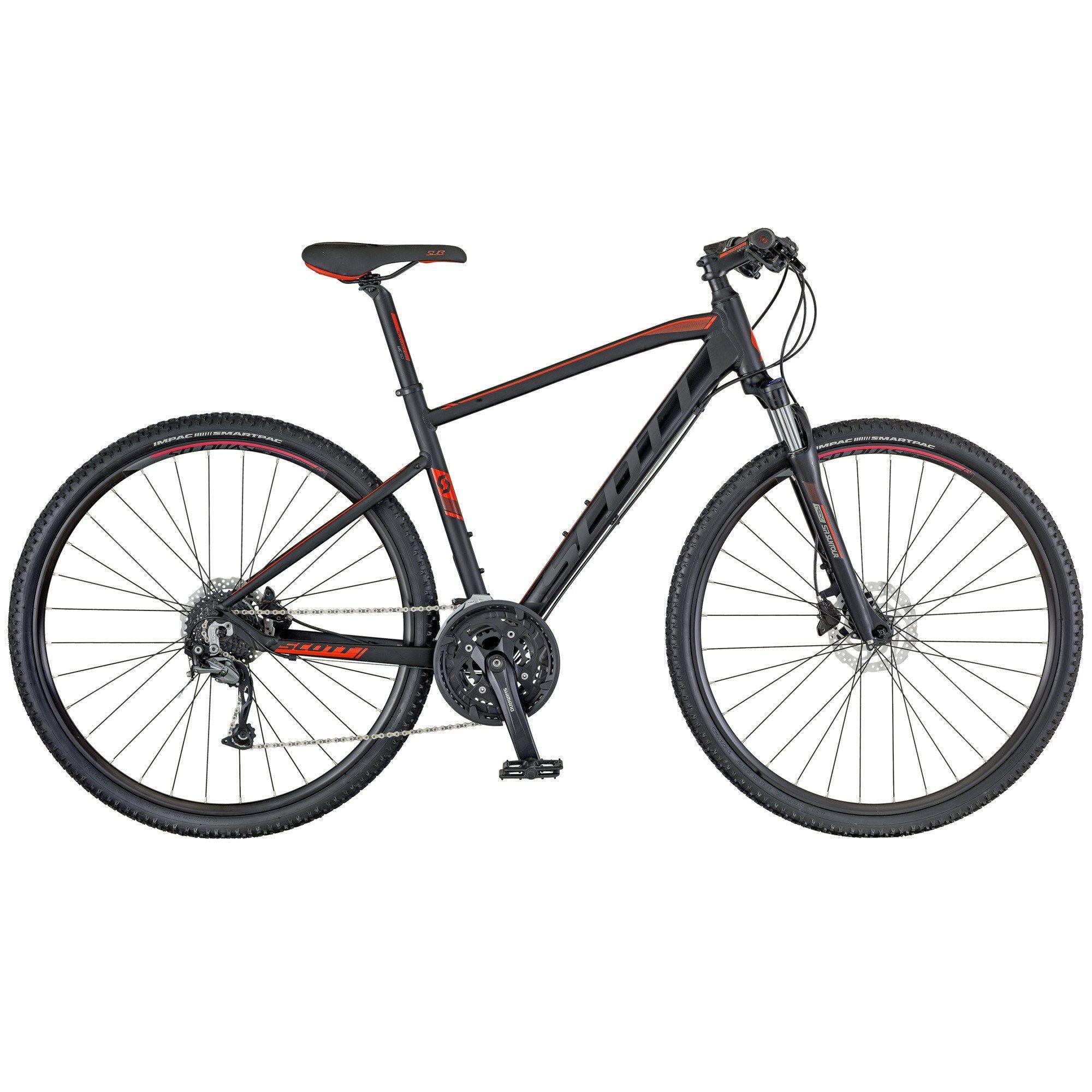 Scott Subcross 30 Men Black Red Urban City Bikes Cbi Bikes