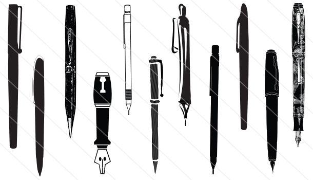 pen silhouette vector (11)   silhouette vector, silhouette clip art, vector  pinterest