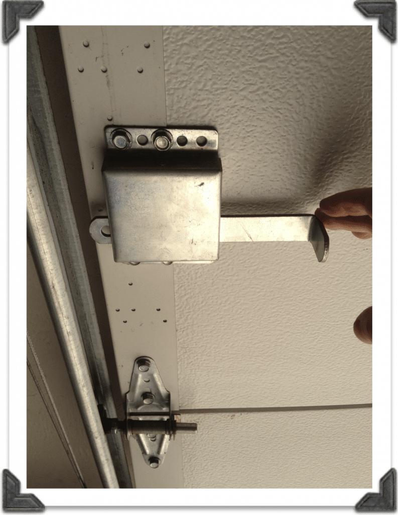 Garage Door Manual Locking Mechanism Garage Doors Garage Door Lock Garage Door Security