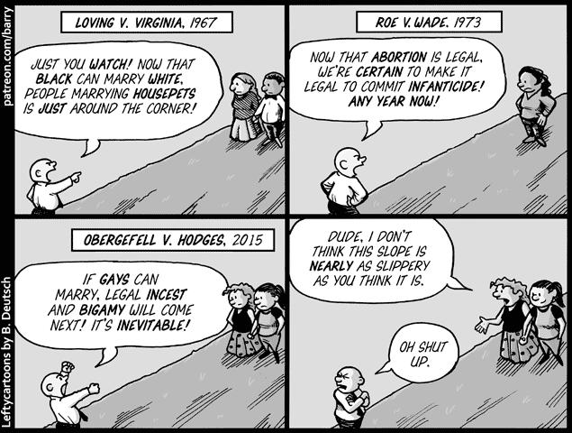 Slippery slopes porn comic