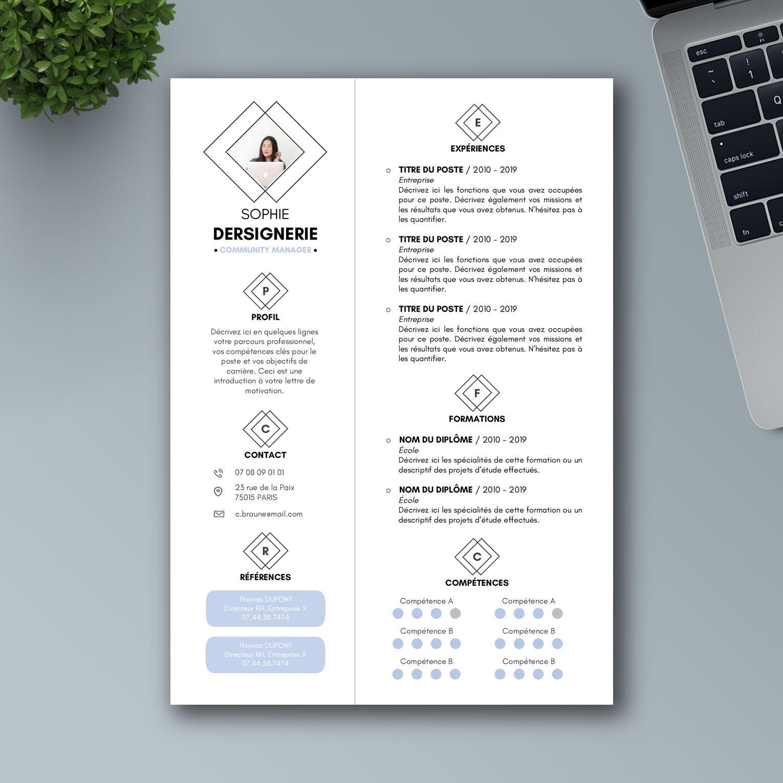Faire un CV en 2020 Modèle de CV Word Modèle cv