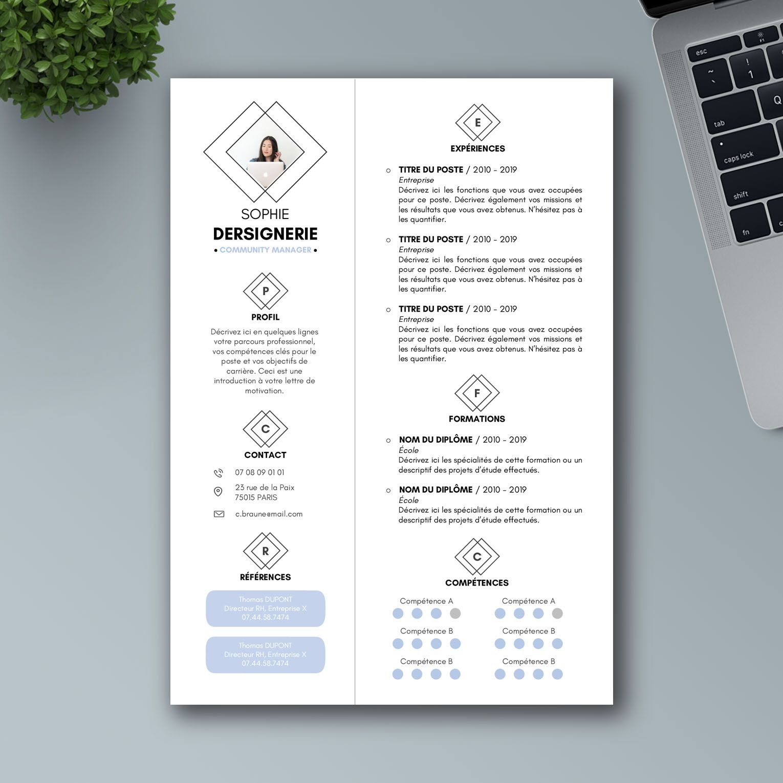 modele cv minimaliste gratuit template cv minimaliste word