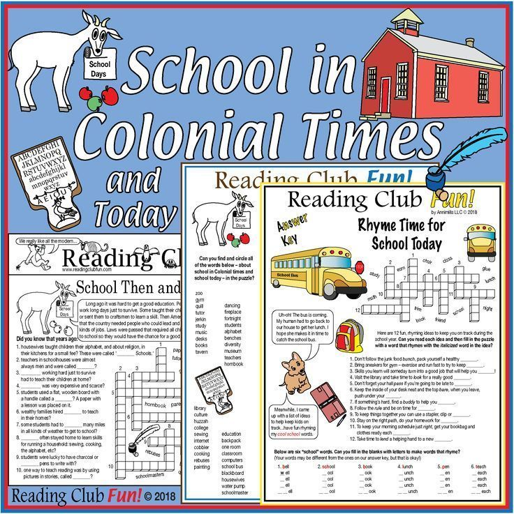Photo of School in Colonial Times – and Today: Puzzle Set