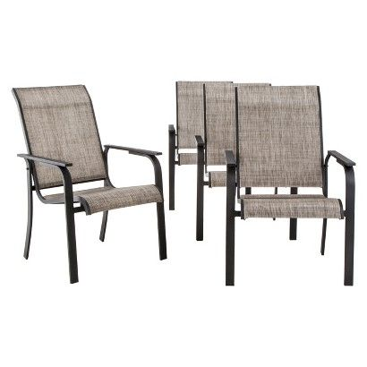 Threshold Linden 4 Piece Sling Patio Dining Cha Target