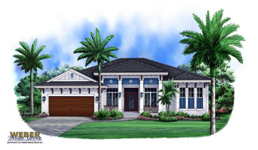 West Indies House Plan Contemporary Island Style Beach Home Plan Coastal House Plans Florida House Plans Courtyard House Plans