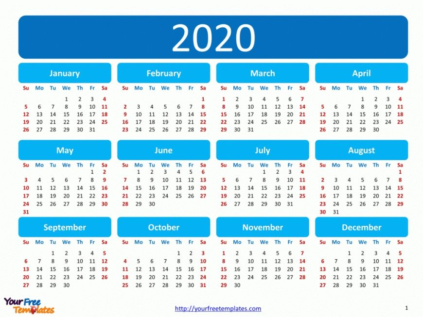 Free Printable 2020 Calendar Encouraged For You To Our Web Site In This Particular Occasi In 2020 2020 Calendar Template Calendar Template Printable Calendar Design