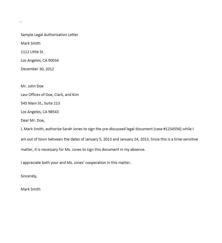 authorization letter template best car galleryformal Home Design - letter of authorization letter