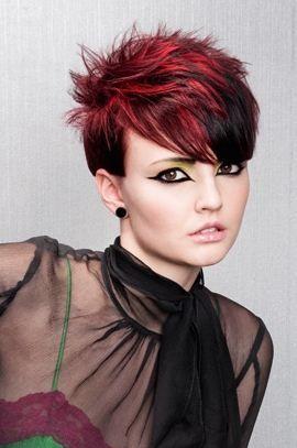 Tagli di capelli corti rossi