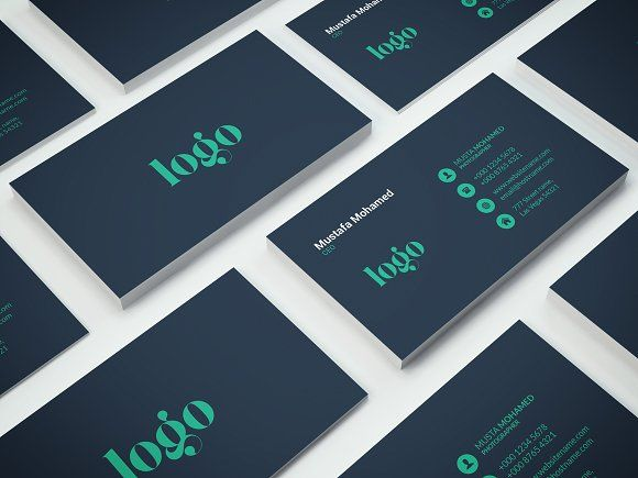 Clean business card by mustaart on creativemarket business cards clean business card templates easy customizable and editable 300 dpi cmyk print ready x with bleed settin by mustaart reheart Images
