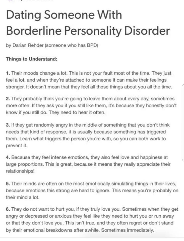Dating a borderline personality disorder man