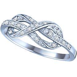 Ben Moss Jewellers 007 Carat TW Sterling Silver Diamond Infinity