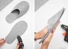 Photo of Pantofole fai da te in feltro ricamate a mano – Ispirando