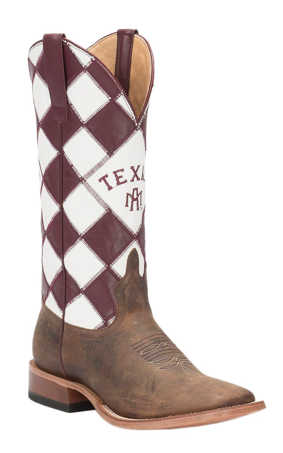 c024caace Anderson Bean Horse Power Men's Toast Bison with Texas A&M Patchwork Top Square  Toe Western Boots | Cavender's