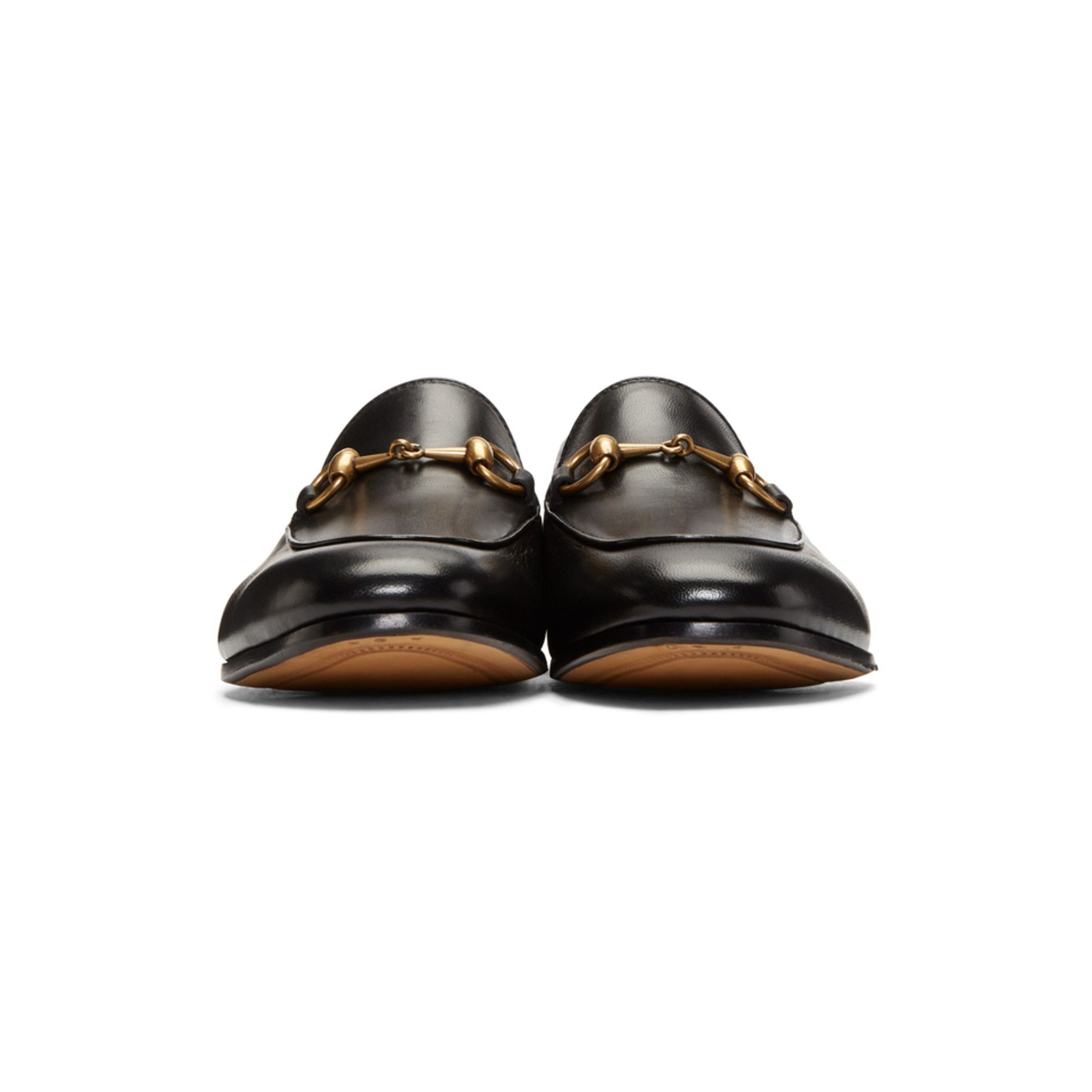 Gucci - Black Brixton Crushback Loafers