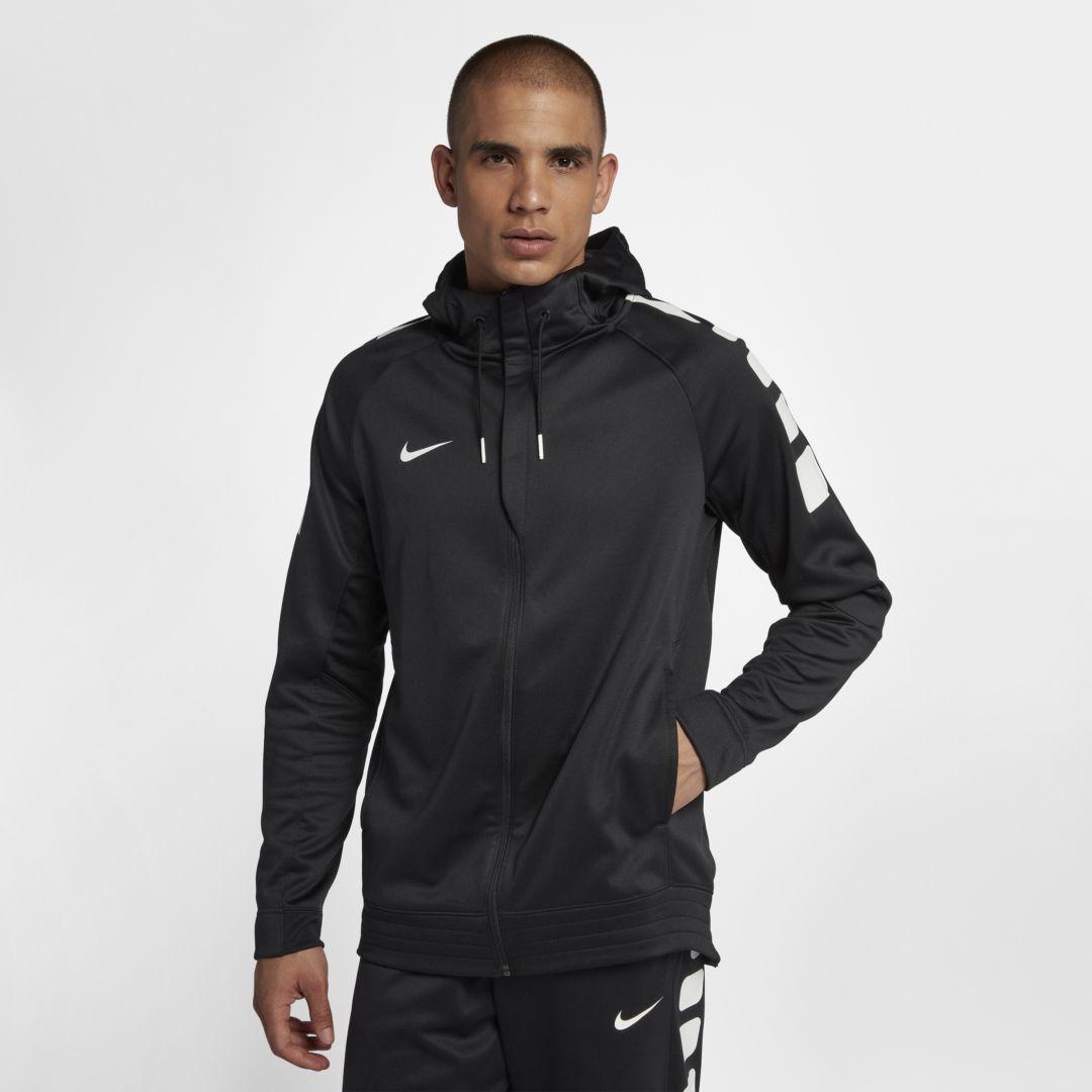 Nike Women's Anthracite Therma FIT Full Zip Fleece Hoodie