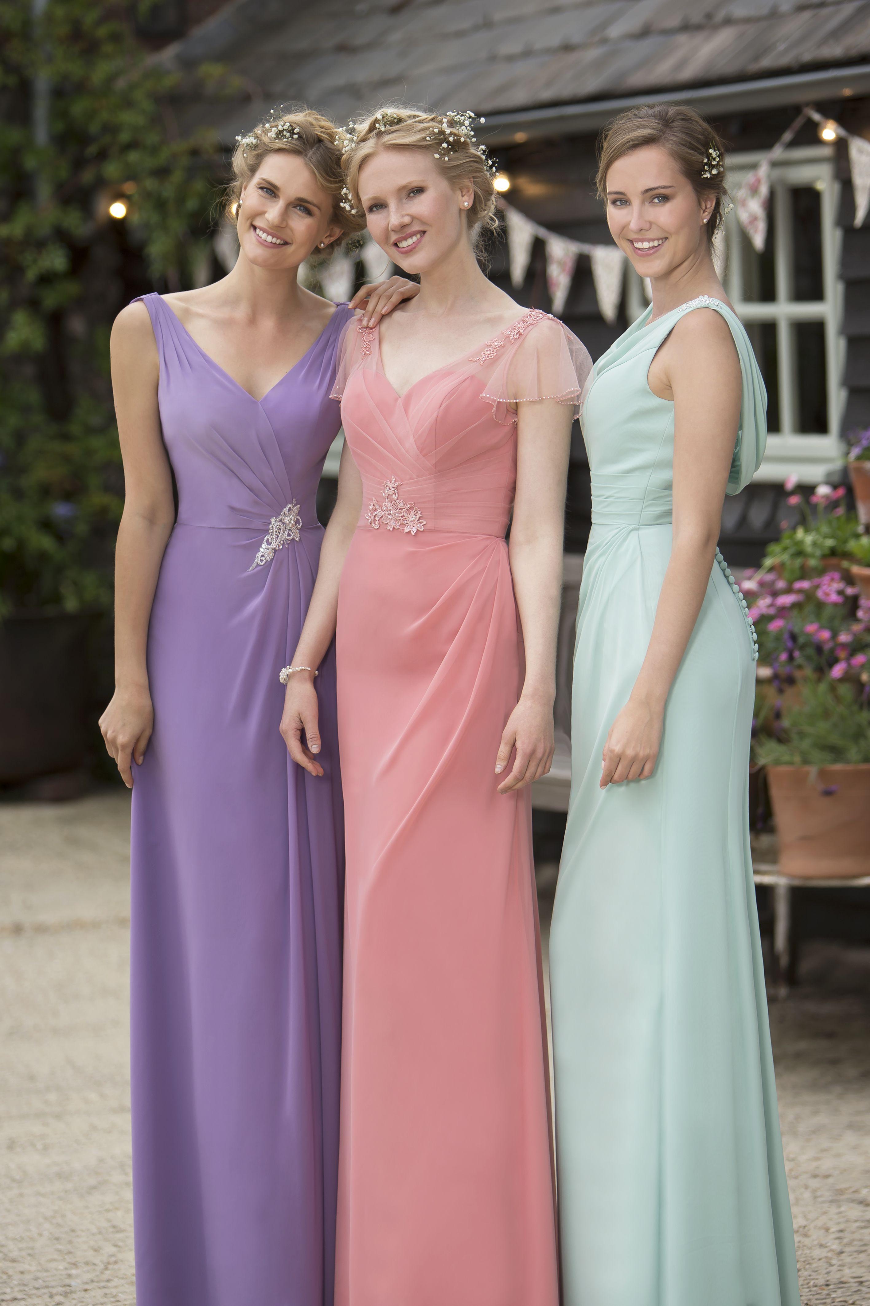 Pretty pastels #bridesmaids by True Bride #pastels #pink ...