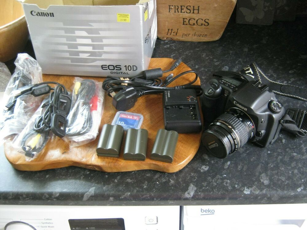 Canon Eos 10d Digital Slr Camera With 35 80mm Cannon Lens Digital Slr Camera Digital Slr Slr Camera