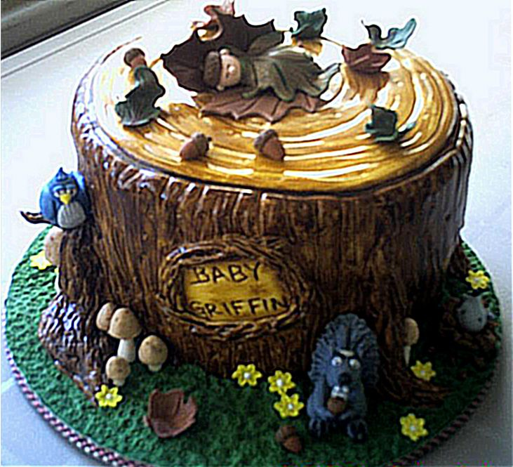 woodland animal cakes woodland forest baby shower cake again lol