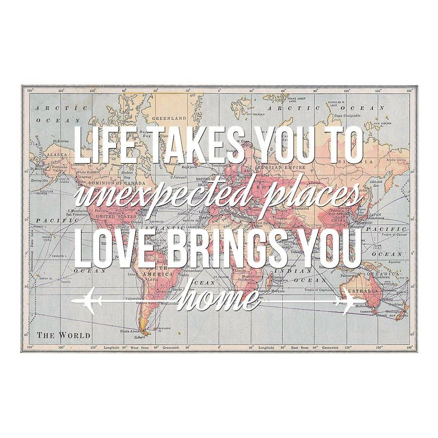 Life takes you personalised map print travel maps life takes you personalised map print world map postervintage mapsvintage traveltravel quotesunexpected gumiabroncs Choice Image
