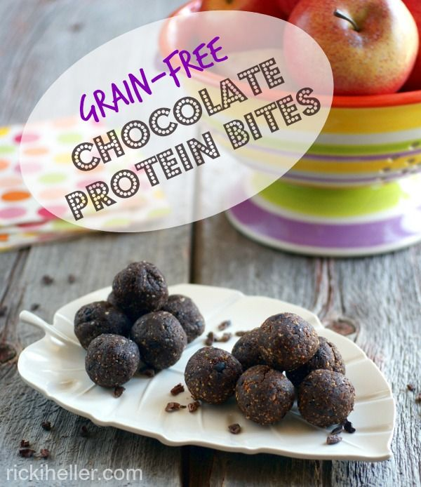 Candida diet, sugar-free, grain-free, vegan Chocolate Protein Bites recipe Chocolate Protein Bites are great for any diet (and see the diet version, too!) @rickiheller