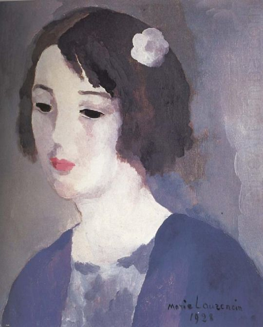 Marie Laurencin Portrait Of Mrs Aitato 1928 Oil On Canvas