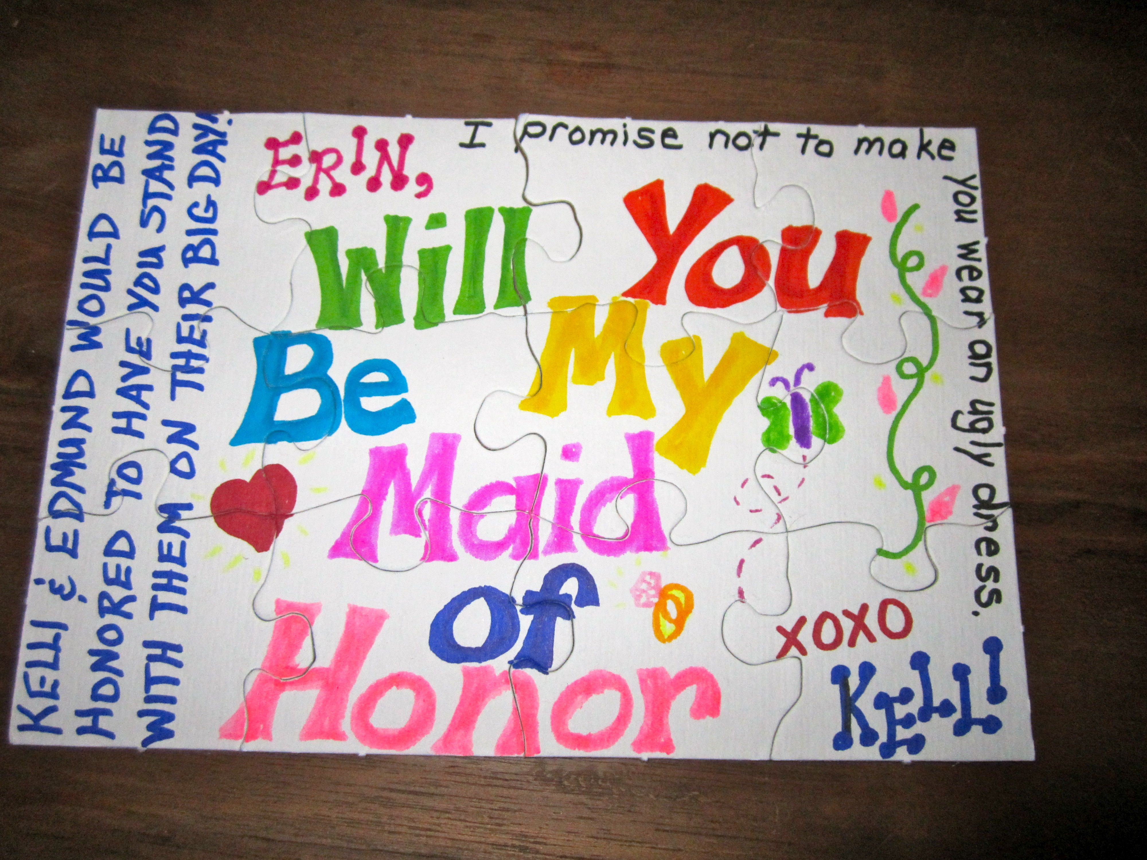 Cute Way To Ask You Maid Of Honor, Bridesmaid, And Flower