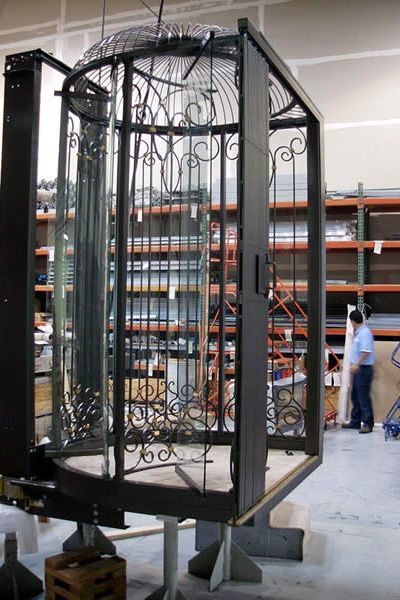 birdcage elevators from artisan elevators