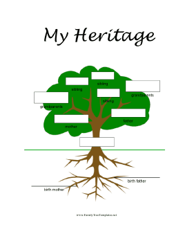 This FullColor Printable Family Tree Is Perfect For Children Who