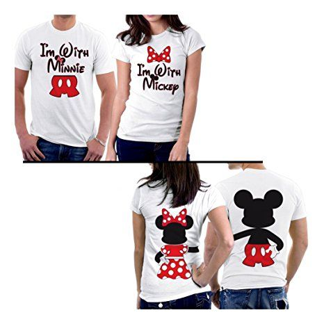 ef6251f50f4 PicOnTshirt Mickey Minnie Two Sided Matching Couple Shirts  ---------------------- couple shirt