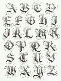 Gangster Letters Tattoos Tattoo Fonts Gangsters Alphabet Lettering Images Chicano Calligraphy