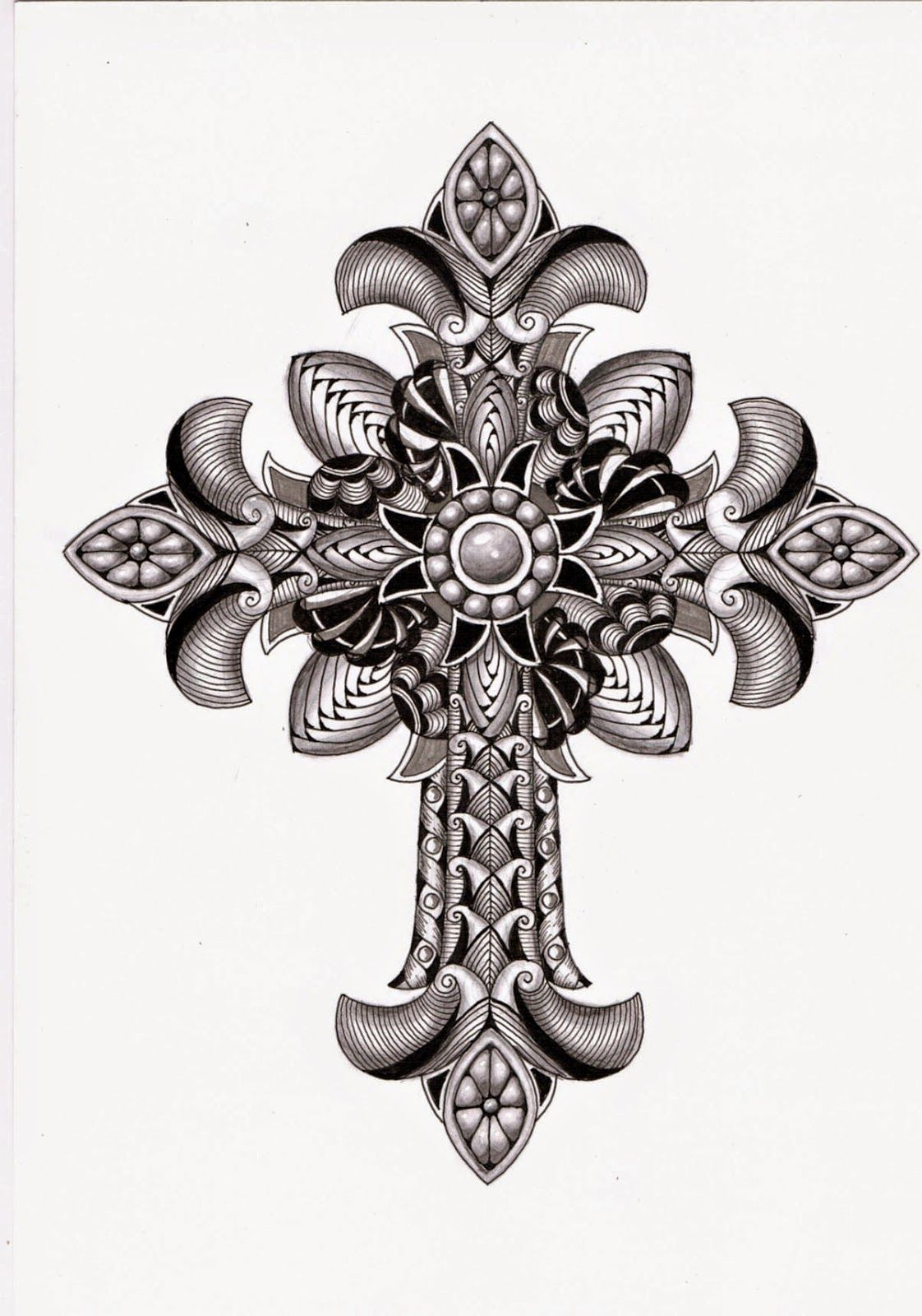 lily 39 s tangles ornate cross template ben kwok zentangles doodle art etc pinterest. Black Bedroom Furniture Sets. Home Design Ideas