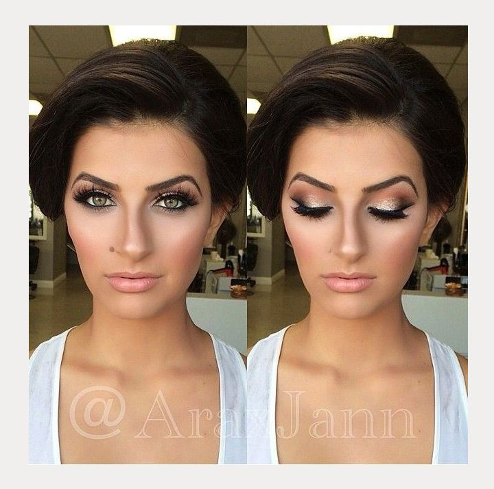 Gold Smokey Eye With Images Brunette Makeup Gorgeous Wedding