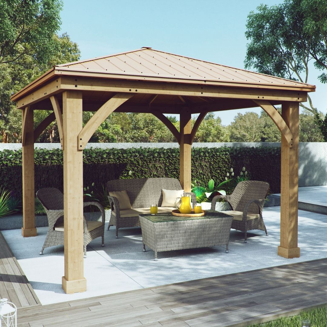 Yardistry Cedar Wood Gazebo Review Backyard Pavilion Backyard