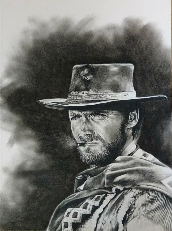 Print Clint Eastwood Clint Eastwood Clint Clint Eastwood Cowboy