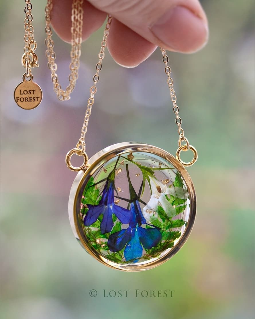 A stunning custom Looking Glass necklace I made for a client